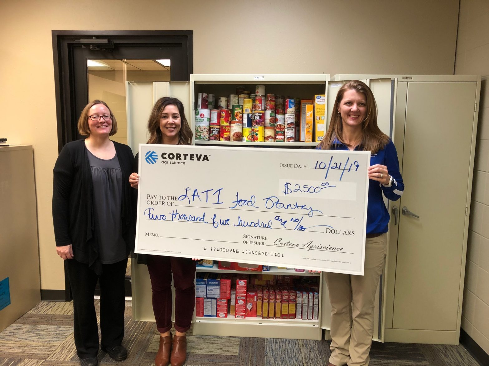 Food Pantry Corteva Donation 10 19