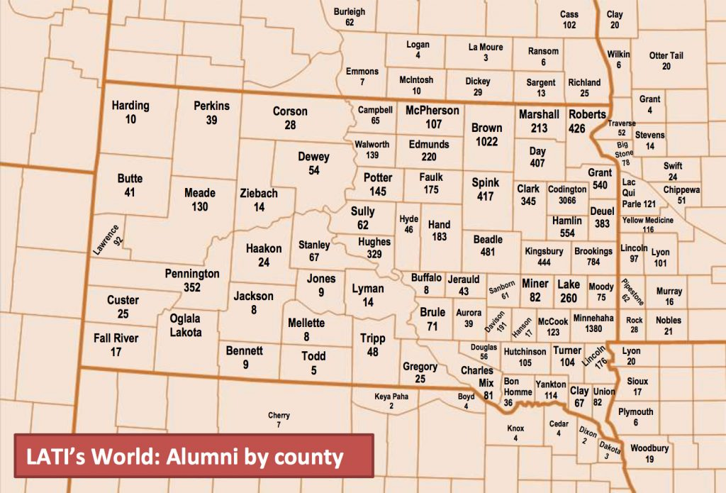 Latc Alumni County Map