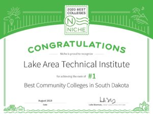 Niche' Best Community Colleges | Lake Area Technical College