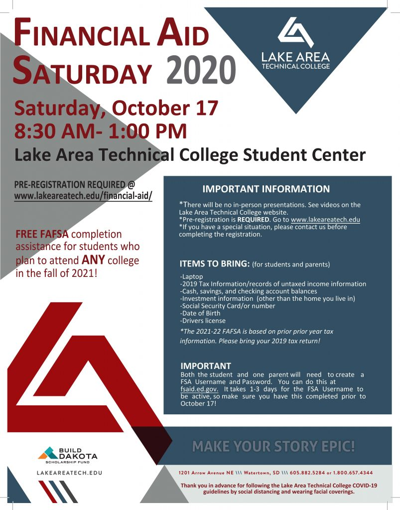 Financial Aid Saturday Poster