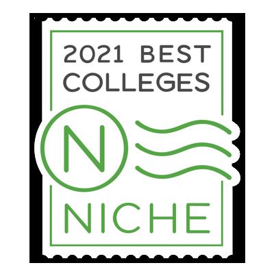 Niche Best Colleges Badge 2021